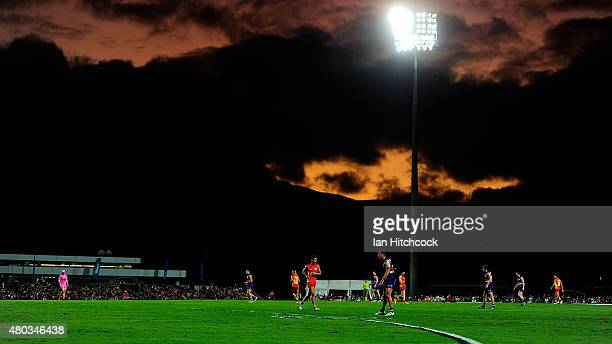 A general view is seen during the round 15 AFL match between the Western Bulldogs and the Gold Coast Suns at Cazaly's Stadium on July 11 2015 in...