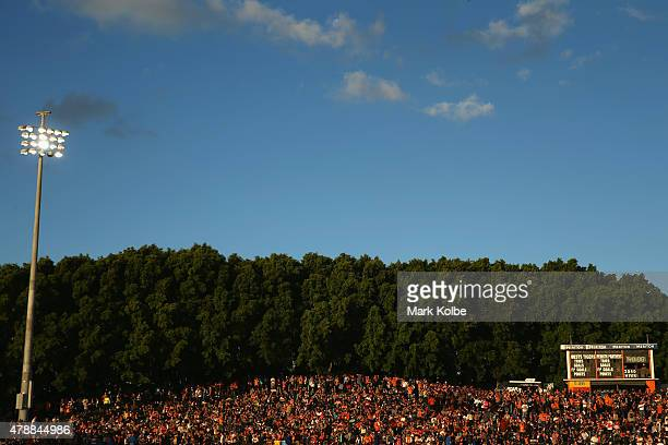 A general view is seen during the round 16 NRL match between the Wests Tigers and the Penrith Panthers at Leichhardt Oval on June 28 2015 in Sydney...