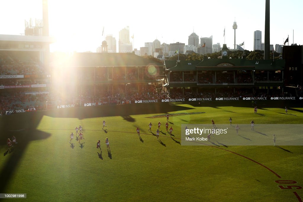 A general view is seen during the round 18 AFL match between the Sydney Swans and the Gold Coast Suns at Sydney Cricket Ground on July 21, 2018 in Sydney, Australia.