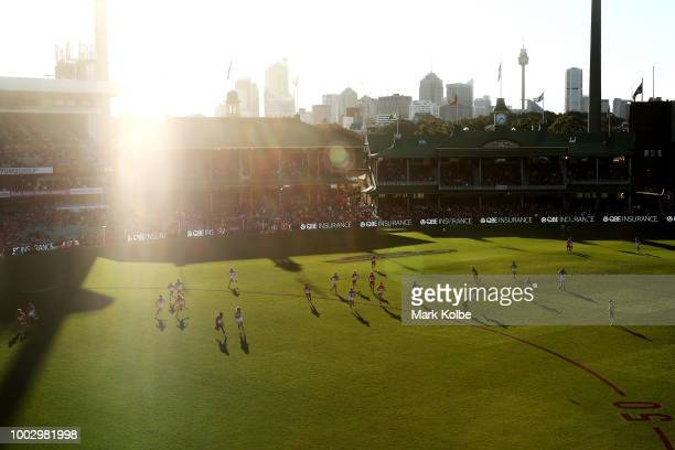 A general view is seen during the round 18 AFL match between the Sydney Swans and the Gold Coast Suns at Sydney Cricket Ground on July 21 2018 in...
