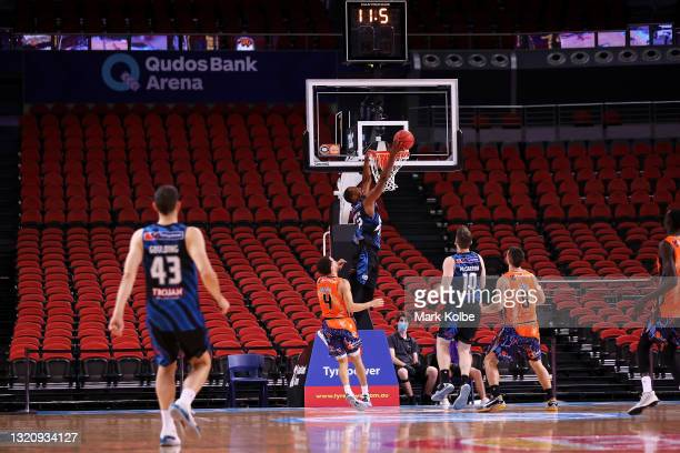 General view is seen during the round 20 NBL match between Melbourne United and Cairns Taipans at Qudos Bank Arena, on May 31 in Sydney, Australia....