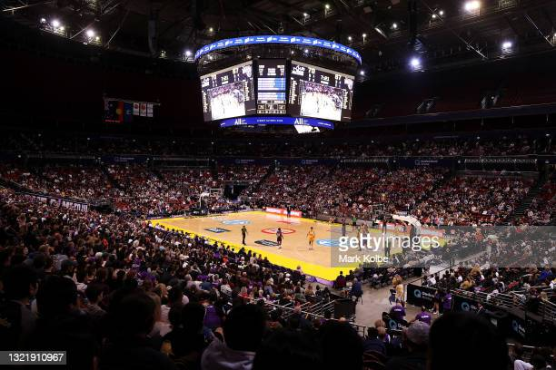 General view is seen during the round 21 NBL match between Sydney Kings and Brisbane Bullets at Qudos Bank Arena, on June 05 in Sydney, Australia.