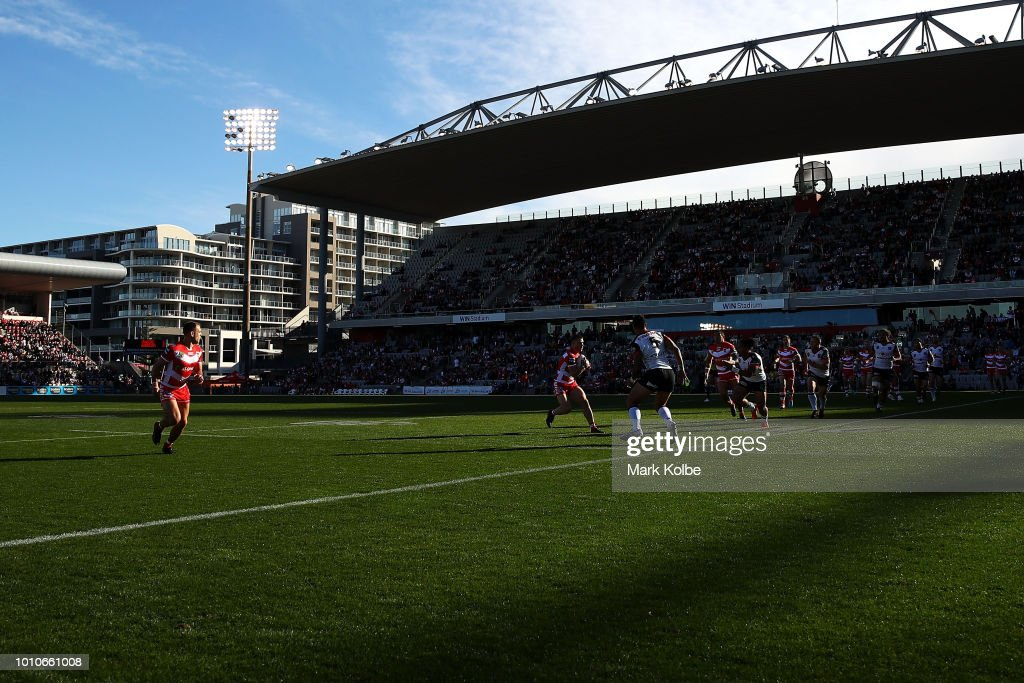 A general view is seen during the round 21 NRL match between the St George Illawarra Dragons and the New Zealand Warriors at WIN Stadium on August 4, 2018 in Wollongong, Australia.