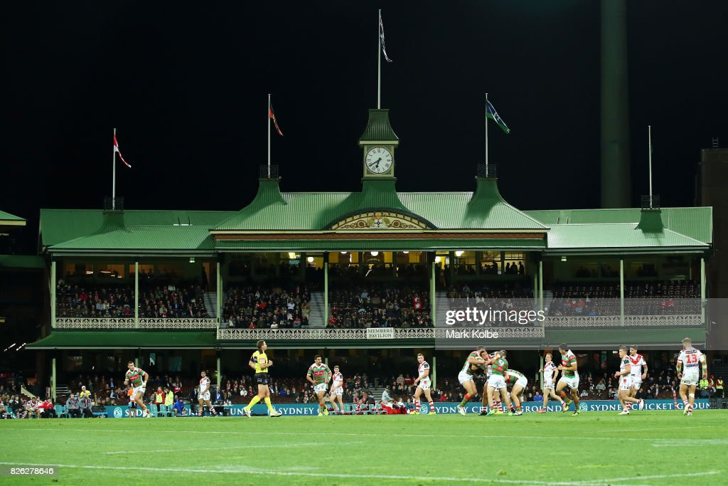 A general view is seen during the round 22 NRL match between the St George Illawarra Dragons and the South Sydney Rabbitohs at Sydney Cricket Ground on August 4, 2017 in Sydney, Australia.