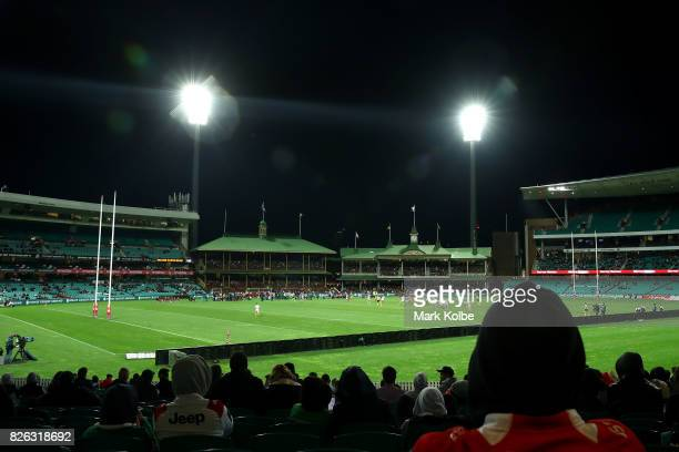 A general view is seen during the round 22 NRL match between the St George Illawarra Dragons and the South Sydney Rabbitohs at Sydney Cricket Ground...
