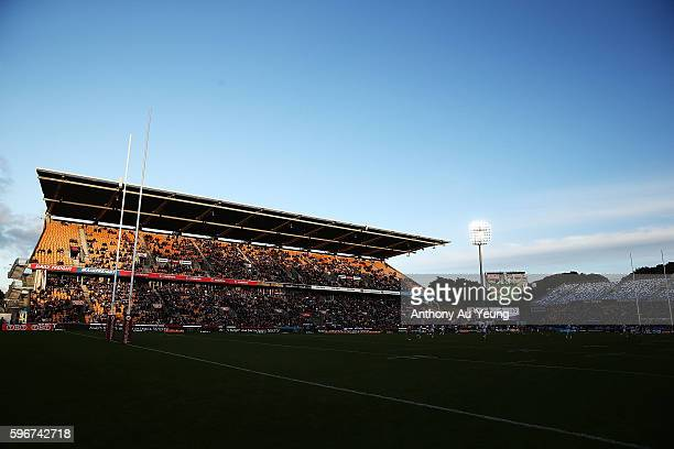 General view is seen during the round 25 NRL match between the New Zealand Warriors and the Wests Tigers at Mount Smart Stadium on August 28, 2016 in...