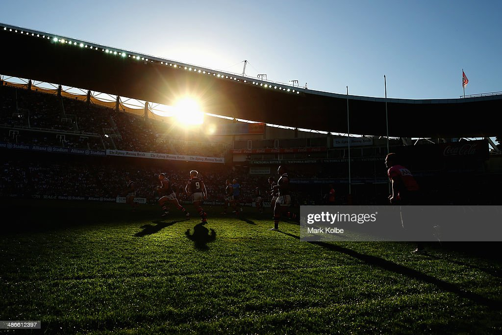 A general view is seen during the round 8 NRL match between the St George Illawarra Dragons and the Sydney Roosters at Allianz Stadium on April 25, 2014 in Sydney, Australia.