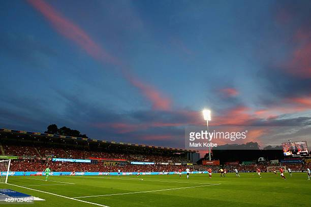 A general view is seen during the round eight ALeague match between Western Sydney Wanderers and Sydney FC at Pirtek Stadium on November 29 2014 in...