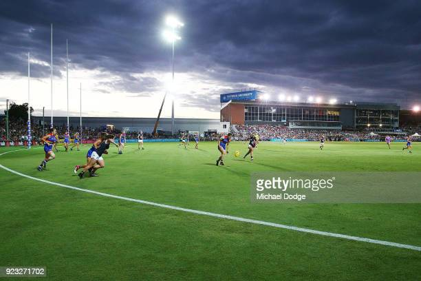 A general view is seen during the round four AFLW match between the Western Bulldogs and the Carlton Blues at Whitten Oval on February 23 2018 in...