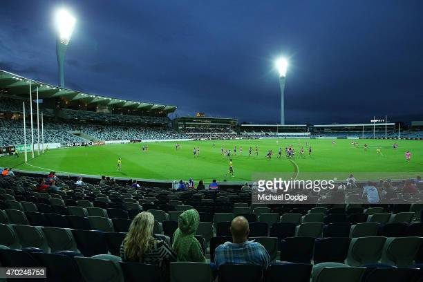A general view is seen during the round two AFL NAB Challenge Cup match between the Western Bulldogs and the St Kilda Saints at Simonds Stadium on...