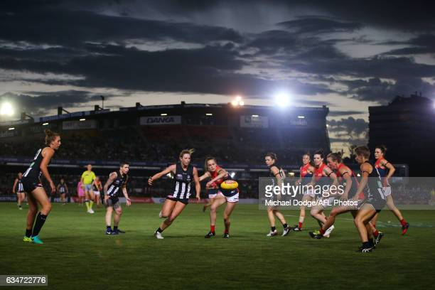 A general view is seen during the round two AFL Women's match between the Collingwood Magpies and the Melbourne Demons at Ikon Park on February 11...