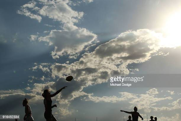A general view is seen during the round two AFLW match between the Melbourne Demons and the Adelaide Crows at Casey Fields on February 10 2018 in...
