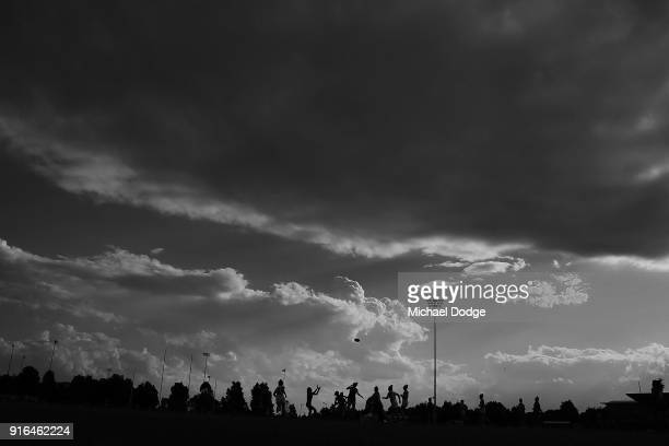 General view is seen during the round two AFLW match between the Melbourne Demons and the Adelaide Crows at Casey Fields on February 10, 2018 in...
