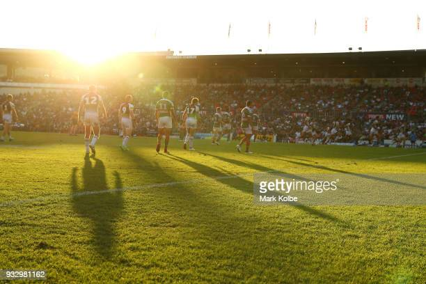 A general view is seen during the round two NRL match between the Penrith Panthers and the South Sydney Rabbitohs at Penrith Stadium on March 17 2018...