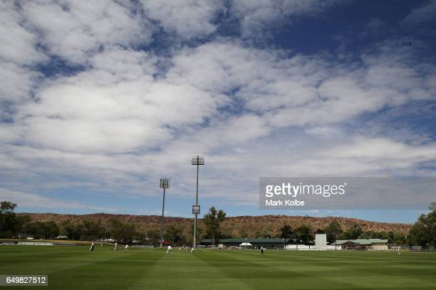 A general view is seen during the Sheffield Shield match between Victoria and Western Australia at Traeger Park on March 9 2017 in Alice Springs...