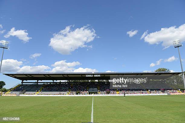 A general view is seen during the Third League match between VfR Aalen and Chemnitzer FC at ScholzArena on July 25 2015 in Aalen Germany