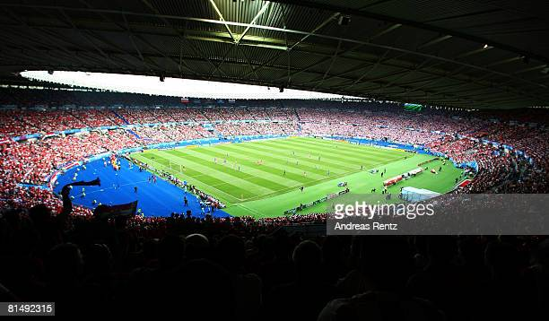 A general view is seen during the UEFA EURO 2008 Group B match between Austria and Croatia at Ernst Happel Stadion on June 8 2008 in Vienna Austria