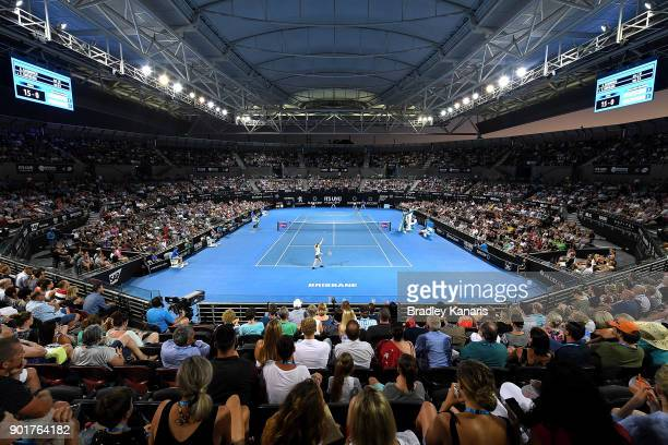 A general view is seen during the Women's Final match between Elina Svitolina of Ukraine and Aliaksandra Sasnovich of Bulgaria during day seven of...