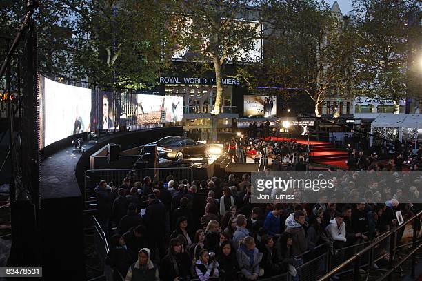 General view is seen during the world premiere of 'Quantum of Solace' at Odeon Leicester Square on October 29, 2008 in London, England.