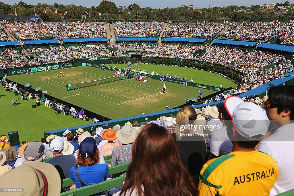 Davis Cup - Australia v USA : News Photo