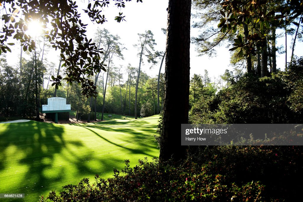 A general view is seen near the tenth hole during a practice round prior to the start of the 2017 Masters Tournament at Augusta National Golf Club on April 4, 2017 in Augusta, Georgia.