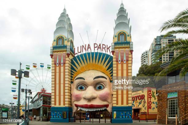 A general view is seen of a closed Luna Park on March 24 2020 in Sydney Australia Sydney's Luna Park closed its doors to the public on Monday 23...