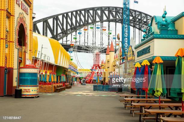 A general view is seen of a closed Luna Park on March 24 2020 in Sydney Australiaon March 24 2020 in Sydney Australia Sydney's Luna Park closed its...