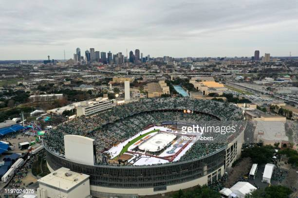 A general view is seen of Cotton Bowl after the 2020 Bridgestone NHL Winter Classic between the Nashville Predators and the Dallas Stars at Cotton...