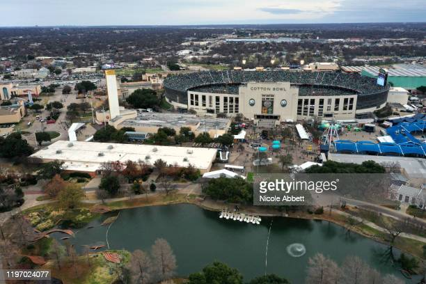 General view is seen of Cotton Bowl during the 2020 Bridgestone NHL Winter Classic between the Nashville Predators and the Dallas Stars at Cotton...