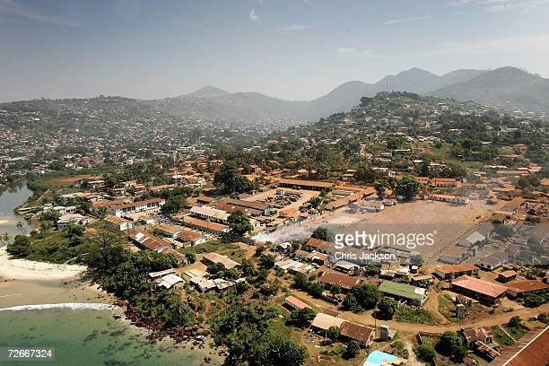 General view is seen of Freetown on November 28, 2006 in Freetown, Sierra Leone. Sierra Leone was ravaged by a decade long civil war but peace was...