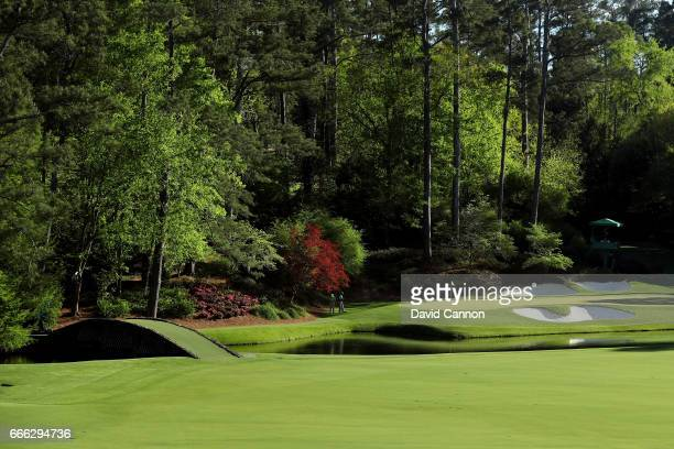 A general view is seen of the 12th hole during the third round of the 2017 Masters Tournament at Augusta National Golf Club on April 8 2017 in...