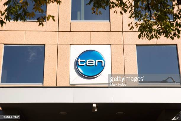 A general view is seen of the Channel 10 studios in Sydney on June 13 2017 in Sydney Australia Channel 10's future is in doubt after key backers...