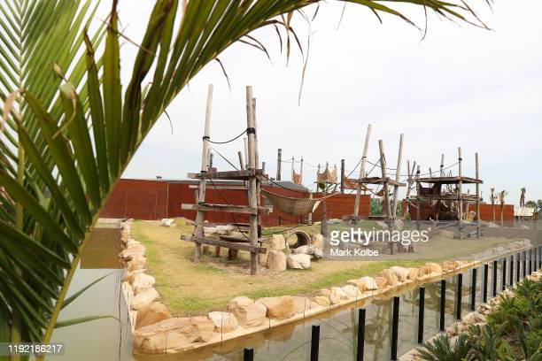A general view is seen of the chimpanzee enclosure during the official opening ceremony of Sydney Zoo on December 06 2019 in Sydney Australia Sydney...