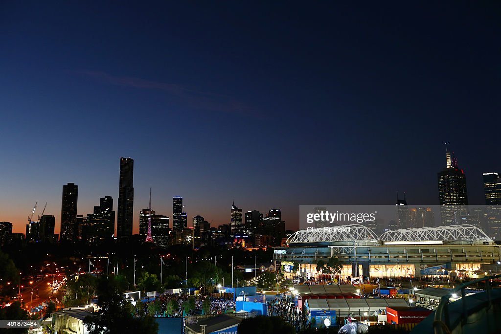 Image result for melbourne skyline australian open