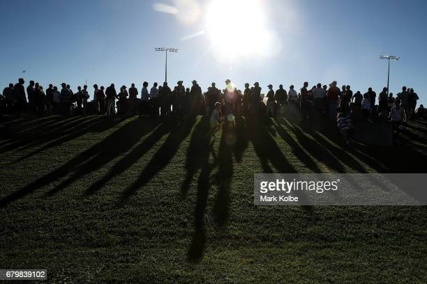 A general view is seen of the crowd as they wait for the start of the 2017 City versus Country Origin match at Glen Willow Sports Ground on May 7...
