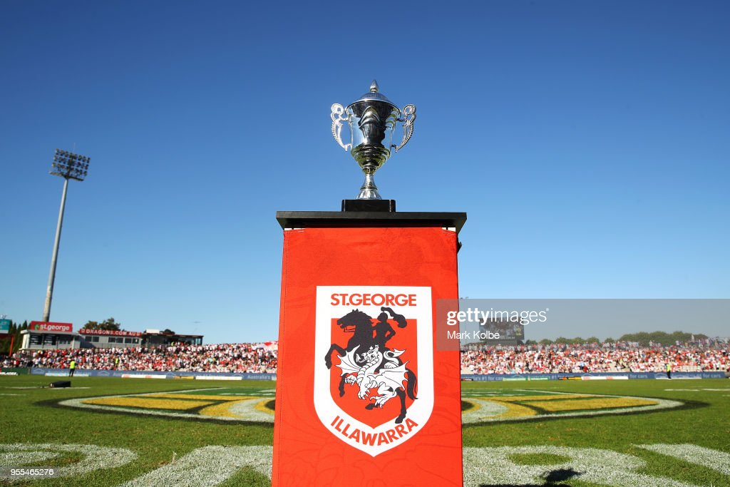 A general view is seen of the Emergency Services Cup before the round nine NRL match between the St George Illawarra Dragons and the Melbourne Storm at UOW Jubilee Oval on May 6, 2018 in Sydney, Australia.