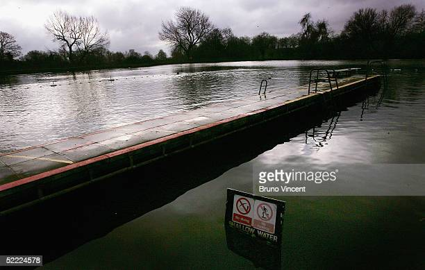 A general view is seen of the Hampstead Heath mens swimming pond February 21 2005 in London England The future of the north London ponds which an...