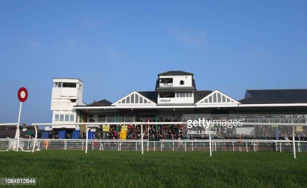 A general view is seen of the main stand at Catterick Racecourse on November 23 2018 in Catterick England