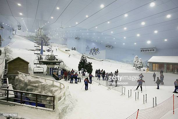 A general view is seen of the press launch of Ski Dubai the worlds largest snowdome at Mall of the Emirates on December 1 2005 in Dubai United Arab...