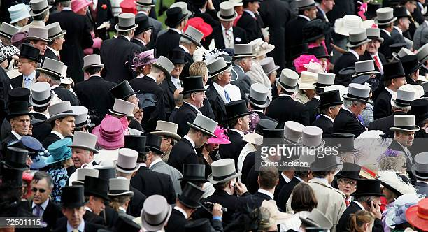 A general view is seen of the royal enclosure on the first day of Royal Ascot 2005 at York Racecourse on June 14 2005 in York England One of the...