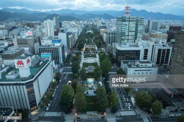General view is seen of the view from the Sapporo TV Tower ahead of the Rugby World Cup on September 18, 2019 in Sapporo, Japan.