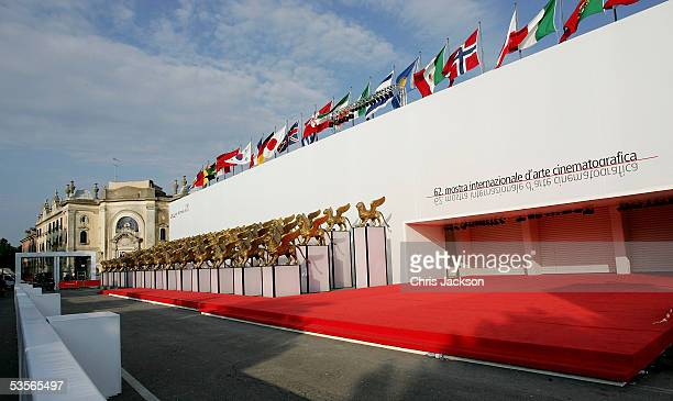 A general view is seen outside of the Palazzo del Cinema ahead of the start of the 62nd Venice Film Festival on August 31 2005 in Venice Italy
