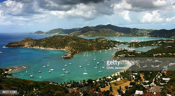 A general view is seen over English harbour on March 10 2008 in St John's Antigua