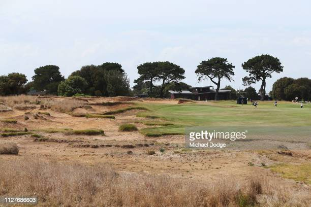 General view is seen over the 15th hole bunkers prior to the ISPS Handa Vic Open at 13th Beach Golf Club on February 06, 2019 in Geelong, Australia.