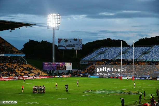 General view is seen prior to the round 10 NRL match between the New Zealand Warriors and the Sydney Roosters at Mt Smart Stadium on May 12, 2018 in...