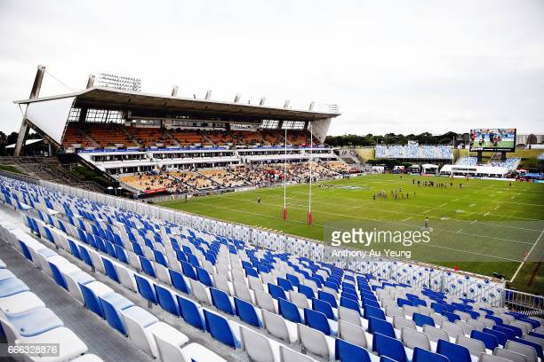 General view is seen prior to the round six NRL match between the New Zealand Warriors and the Parramatta Eels at Mt Smart Stadium on April 9, 2017...