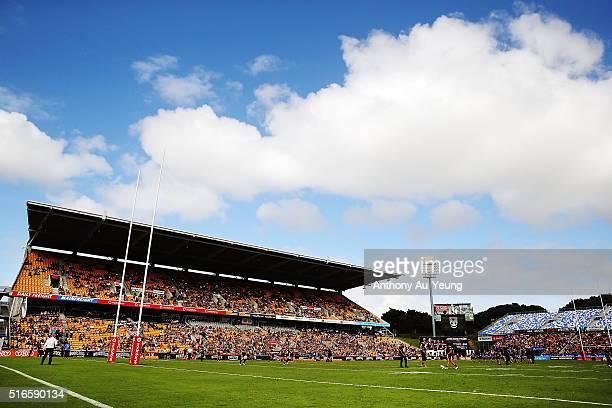General view is seen prior to the round three NRL match between the New Zealand Warriors and the Melbourne Storm at Mt Smart Stadium on March 20,...