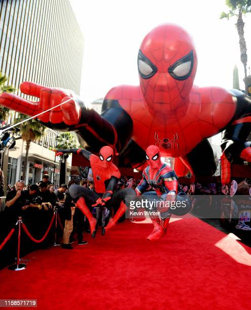 A general view is shown during arrives at the premiere of Sony Pictures' SpiderMan Far From Home at TCL Chinese Theatre on June 26 2019 in Hollywood...