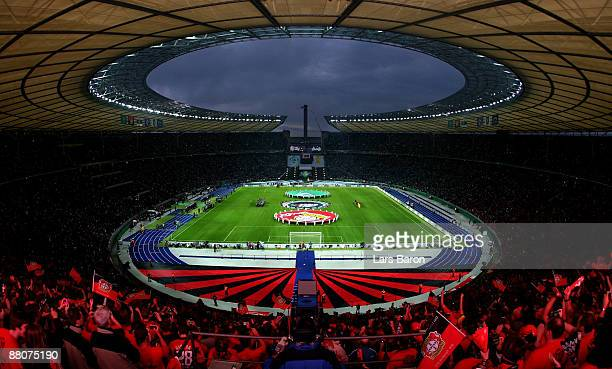A general view is taken during the DFB Cup Final match between Bayer 04 Leverkusen and SV Werder Bremen at Olympic Stadium on May 30 2009 in Berlin...