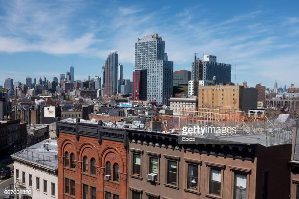 A general view looking across the buildings and construction of downtown Brooklyn looking toward Manhattan April 09 2017